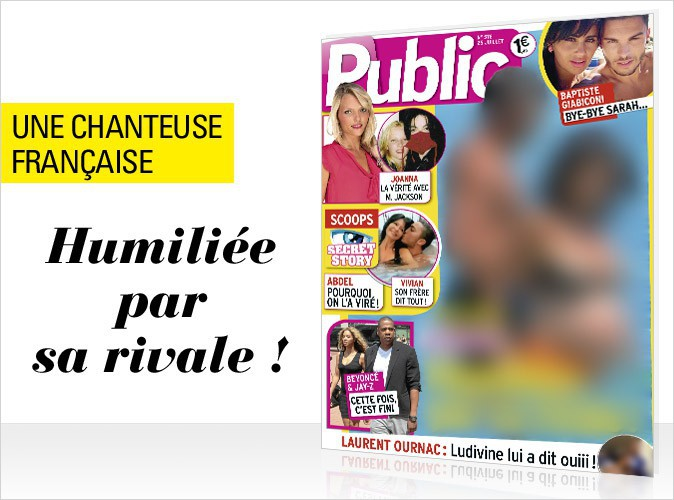 Magazine Public : Une chanteuse française enceinte et en bikini en couverture !