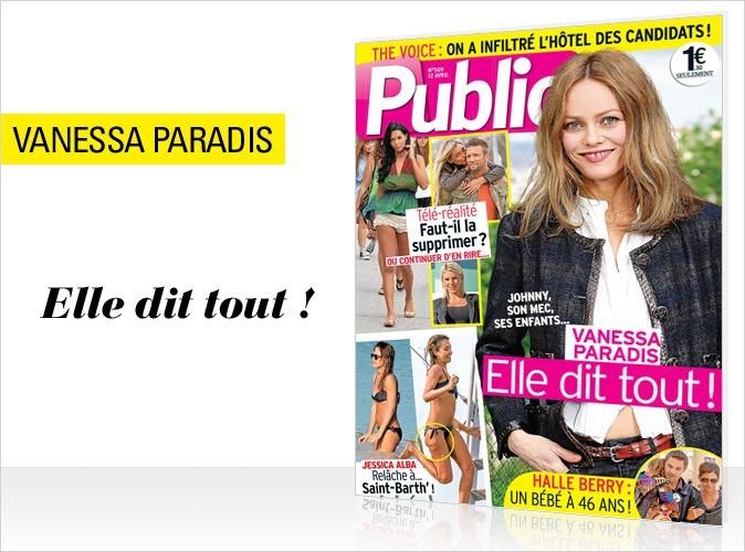 Magazine Public : Vanessa Paradis en couverture !