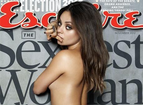 """Mila Kunis : une beauté topless nommée """"Femme la plus sexy"""" par le magazine Esquire !"""