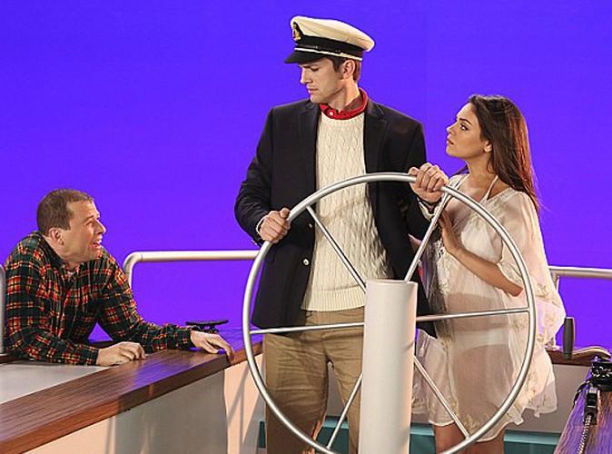 """Mila Kunis : une future maman collée à son homme sur le premier visuel promo de son apparition guest dans """"Mon Oncle Charlie"""" !"""