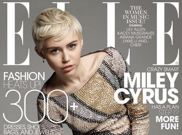 Miley Cyrus décroche une nouvelle couverture du ELLE !