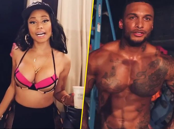 Nicki Minaj : elle dévoile les coulisses du clip très hot d'Anaconda avec David McIntosh, le boyfriend de Kelly Brook !