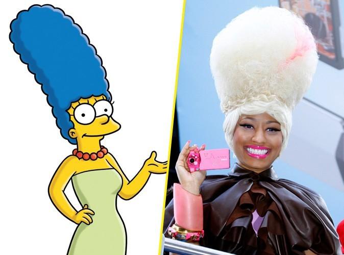 Nicki Minaj : Elle puise son inspiration look chez Marge Simpson !