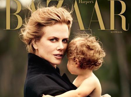 Nicole Kidman : elle offre la une du Harper's Bazaar Australie à sa petite dernière, Faith !
