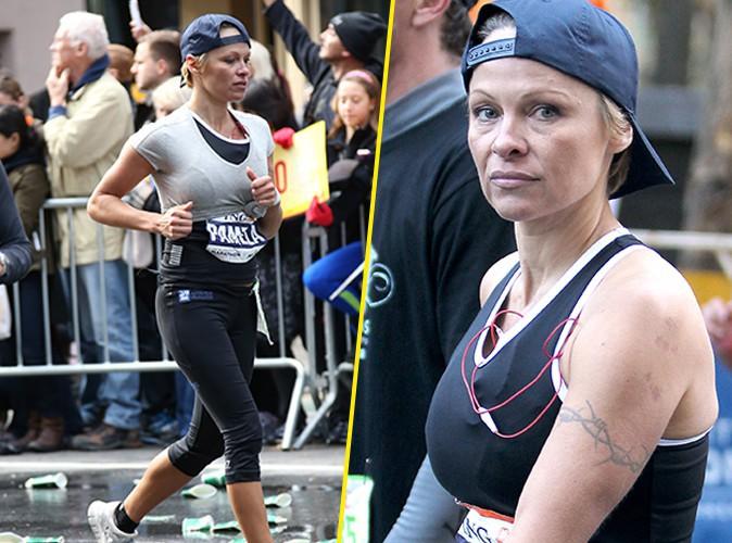 Pamela Anderson : alerte, la bombe s'est blessée au marathon de New-York !
