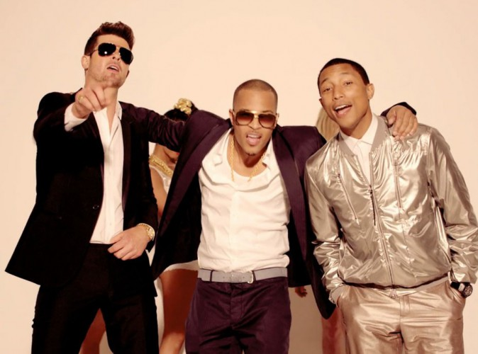 Pharrell Williams et Robin Thicke : leur tube, Blurred Lines, les envoie devant la Justice !