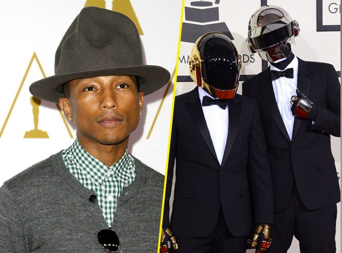 """Pharrell Williams : """"Je dois rendre hommage aux Daft Punk pour tout ce qui m'arrive"""" !"""