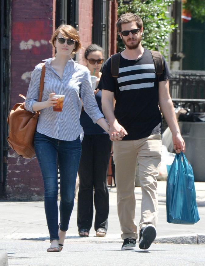 Andrew Garfield & Emma Stone : balade en amoureux dans les rues de New York !