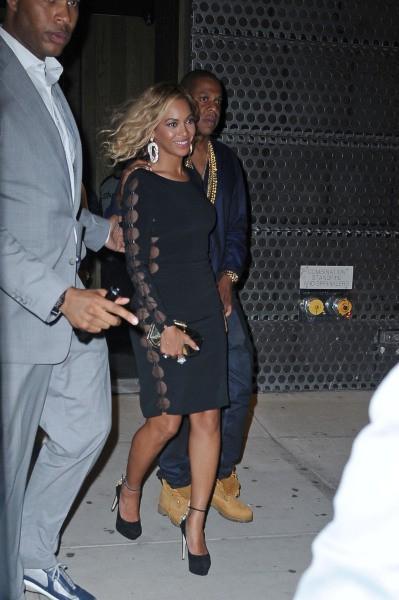 Beyoncé et Jay-Z à la sortie d'une after party à New York, le 25 août 2013