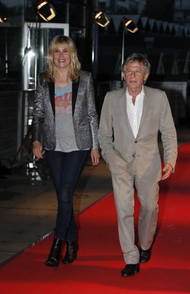 Emmanuelle Seigner et Roman Polanski à la première de Blue Jasmine, le 27 août 2013 à Paris