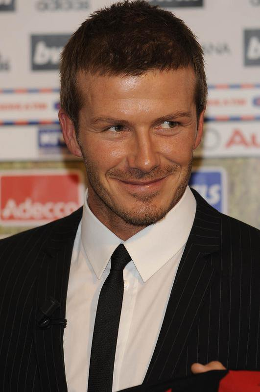 DAVID BECKHAM À LA PRESENTATION OFFICIELLE DE DAVID BECKHAM AU MILAN AC
