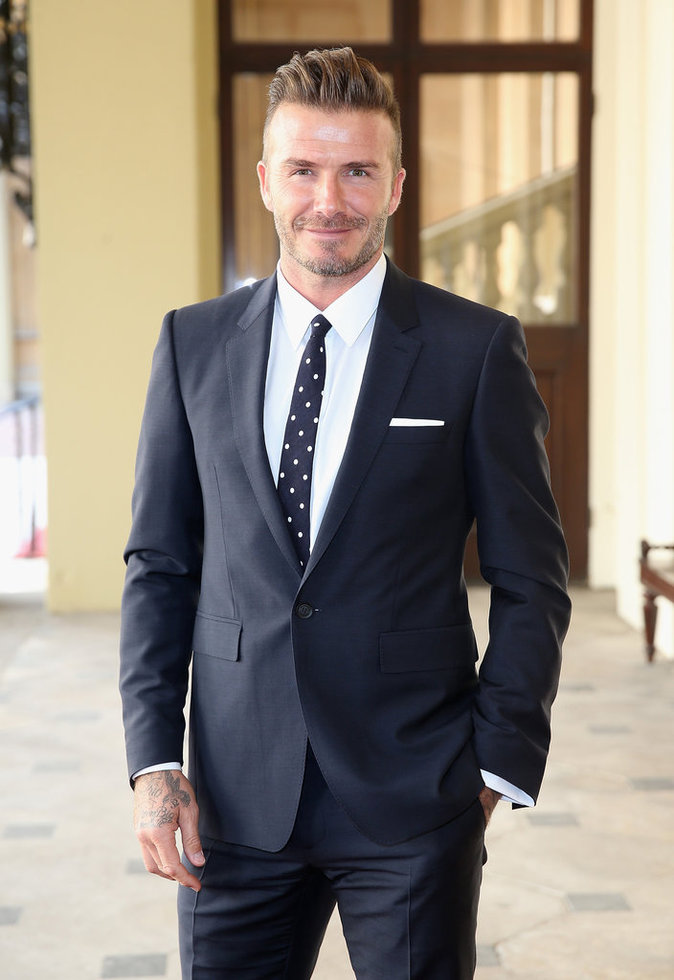 David Beckham à la soirée du Queen's Young Leaders Programme