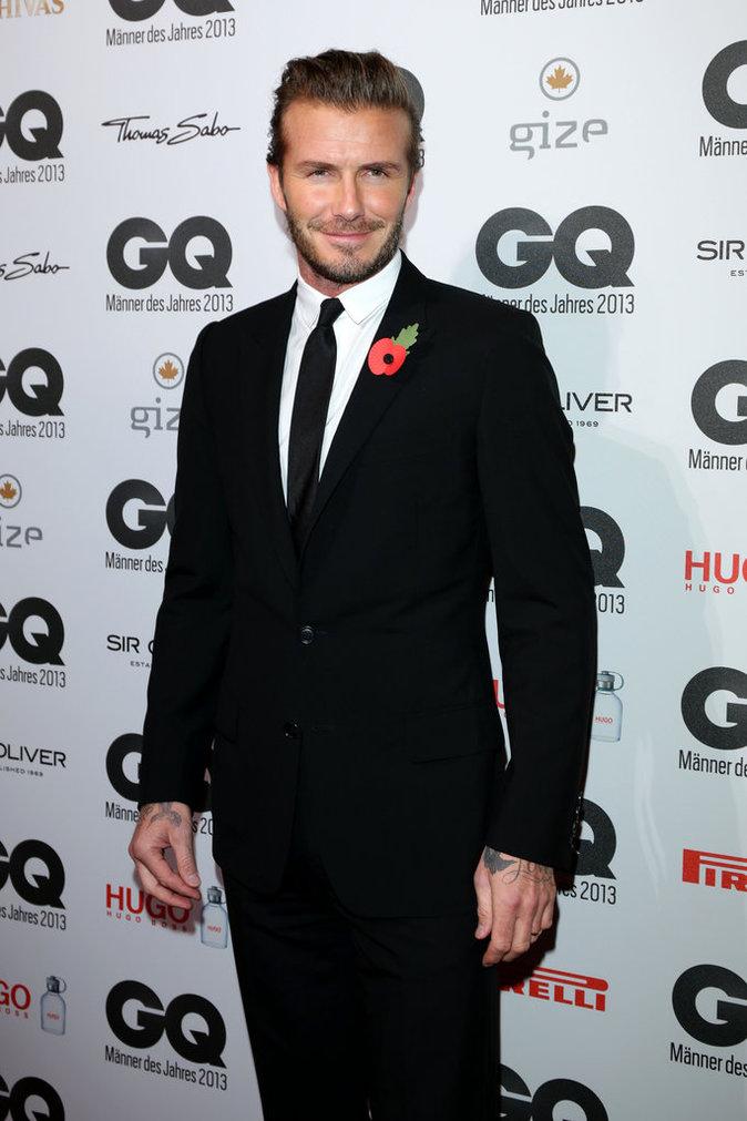 David Beckham au Gala GQ