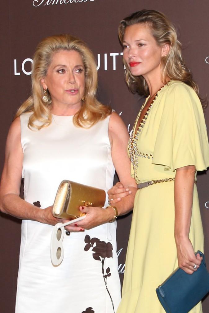 Kate Moss et Catherine Deneuve au Japon le 29 aout 2013