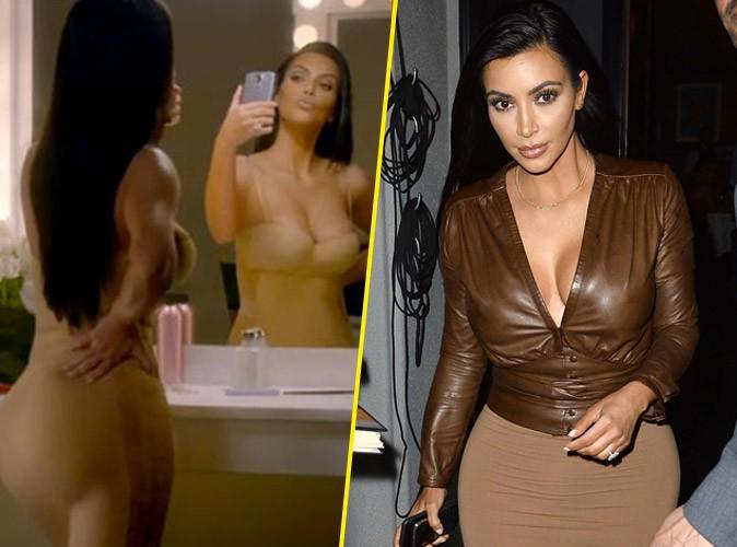 Photos : Kim Kardashian : accro aux selfie, elle s'en moque dans sa nouvelle pub sexy !