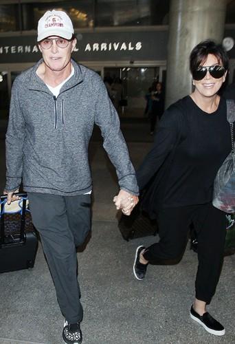 Kris et Bruce Jenner à Los Angeles le 2 avril 2014