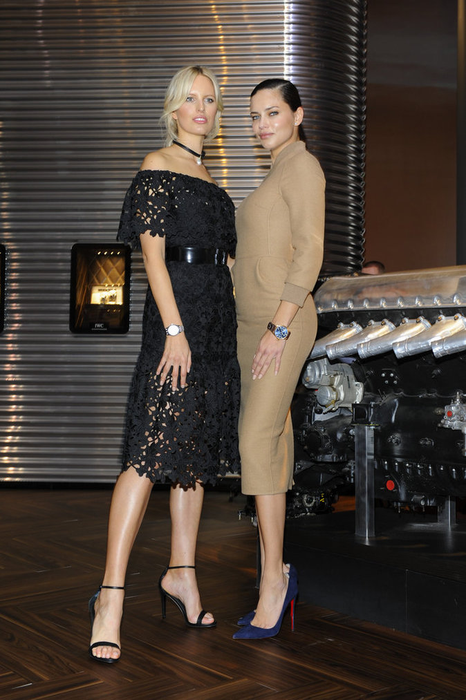 Adriana Lima et Karolina Kurkova, une parade de stars au gala IWC
