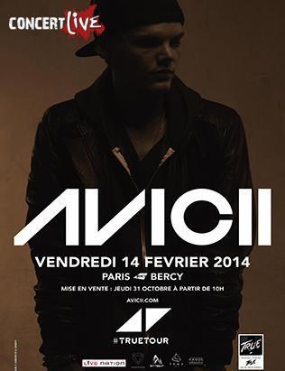 Février : Avicii en concert à Bercy !