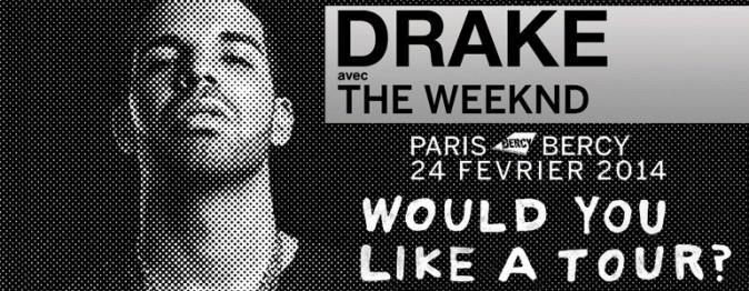 Février : Drake en concert à Bercy !