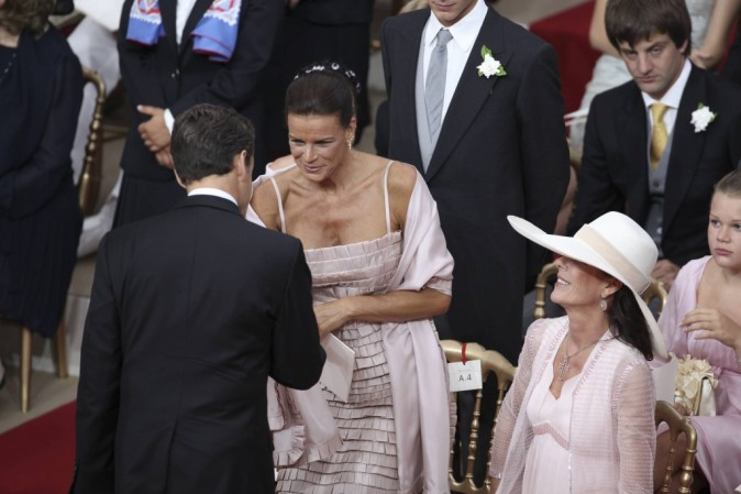 Nicolas Sarkozy salue Stéphanie