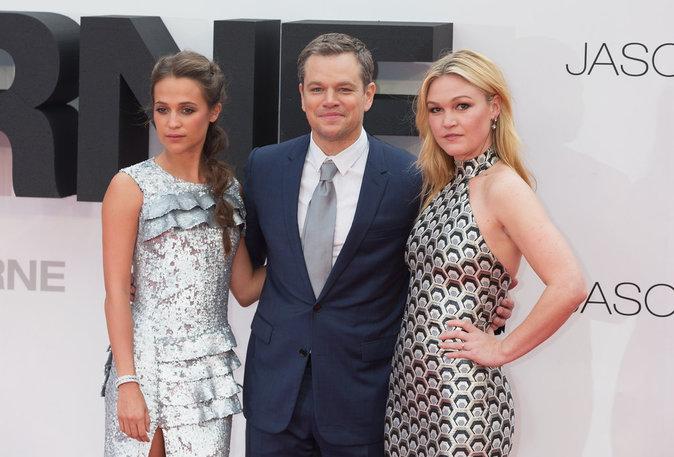 Alicia Vikander, Matt Damon, Julia Stiles à  l'avant première de Jason Bourne