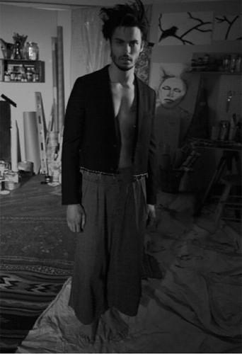 Shooting de Baptiste Giabiconi pour Flaunt