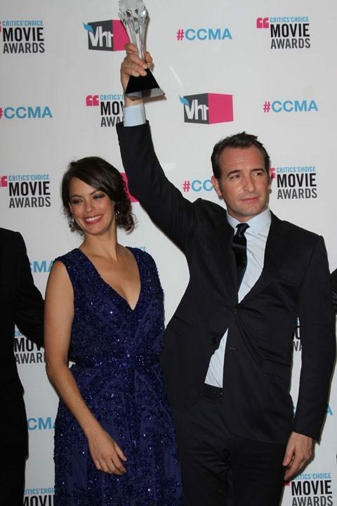 Bérénice Bejo et Jean Dujardin à la cérémonie des Critics' Choice Movie Awards