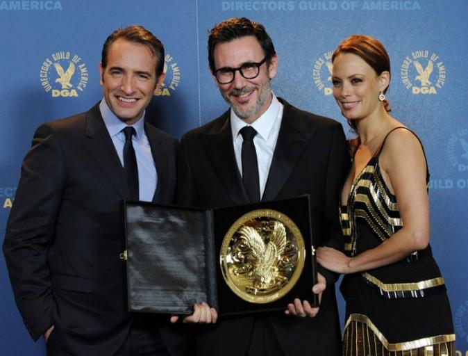 Bérénice Bejo, Michel Hazanavicius et Jean Dujardin à la cérémonie des Directors Guild of America Awards