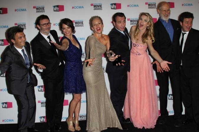 L'équipe de The Artist à la cérémonie des Critics' Choice Movie Awards