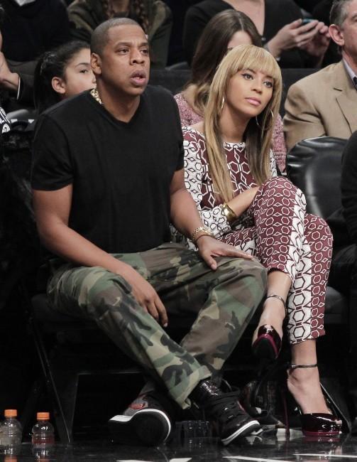 Beyoncé et Jay-Z le 3 novembre 2012 à New York