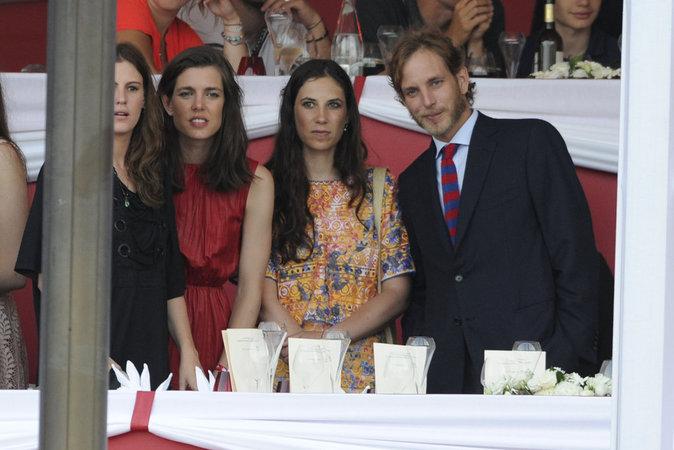 Charlotte Casiraghi, Andrea Casiraghi et Tatiana Santo Domingo à Monaco le 26 juin 2016