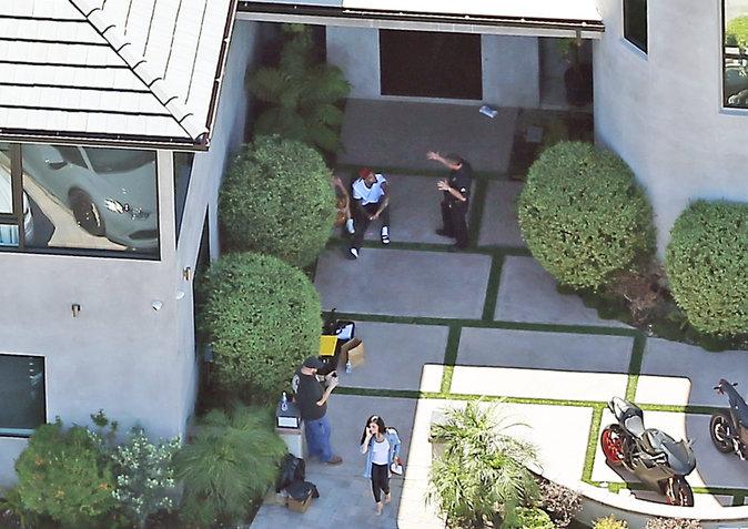 La police au domicile de Chris Brown ce mardi 30 août