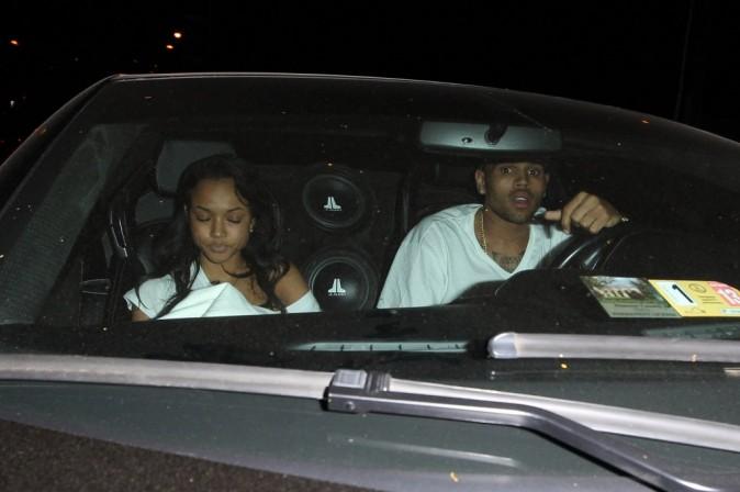 Chris Brown et Karrueche Tran à Hollywood, le 6 juin 2012.