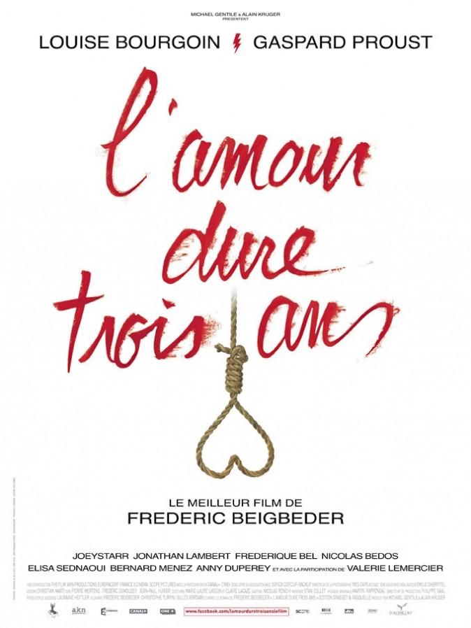 L'amour dure trois ans de Frédéric Beigbeder avec Gaspard Proust, Louise Bourgoin et JoeyStarr (1h38)