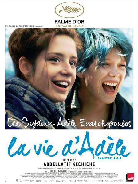La vie d'Adèle chapitre 1&2, sortie le 9/10/13