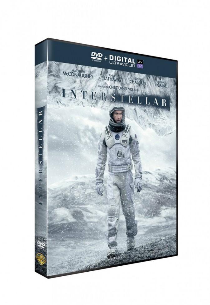 Interstellar, de Christopher Nolan avec Matthew McConaughey, Anne Hathaway, Jessica Chastain, Michael Caine et Matt Damon, Warner. 19,99 €.
