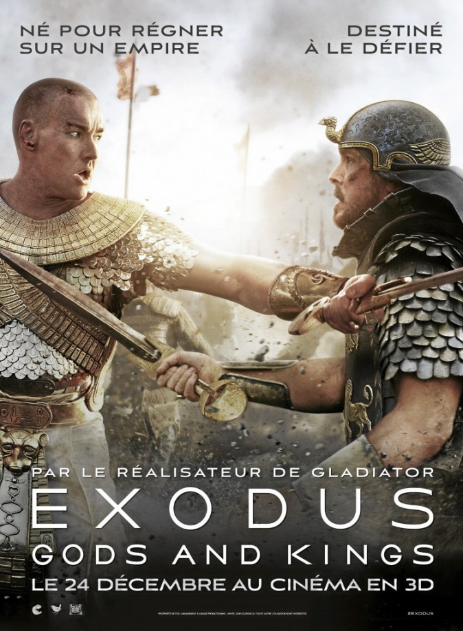 Exodus : Gods and Kings, de Ridley Scott avec Christian Bale et Joel Edgerton (2h31).