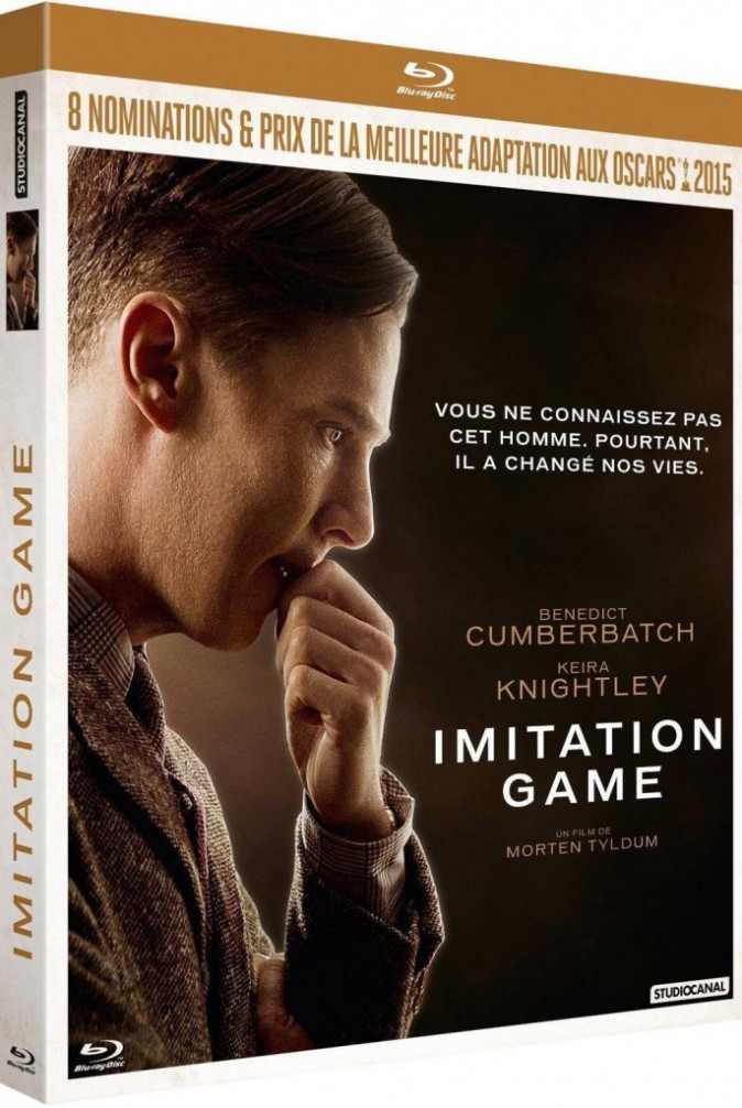 Imitation Game, de Morten Tyldum avec aussi Keira Knightley, Studiocanal. 19,99 €.