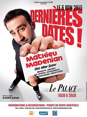 Mathieu Madénian, le 6 juin au Palace, Paris 9e, puis du 4 au 26 juillet au Paris, Avignon. Réservations sur billetreduc.com