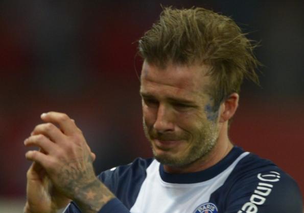 David Beckham lors de son dernier match au PSG