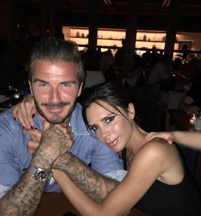 David et Victoria Beckham se d�clarent leur flamme pour leurs 17 ans de mariage