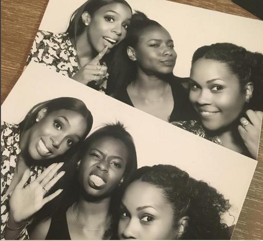 Kelly Rowland a pris la pose avec ses invités