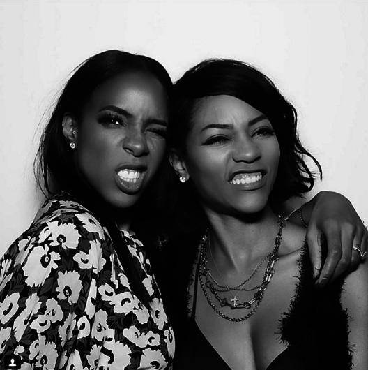 Kelly Rowland n'a pas hésité à prendre la pose avec ses proches