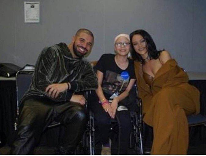 megan avec Drake et Rihanna