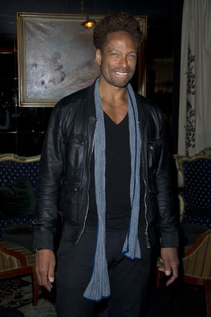 Gary Dourdan lors de la soirée de lancement de la marque de lingerie Divamour à Paris, le 18 avril 2013.