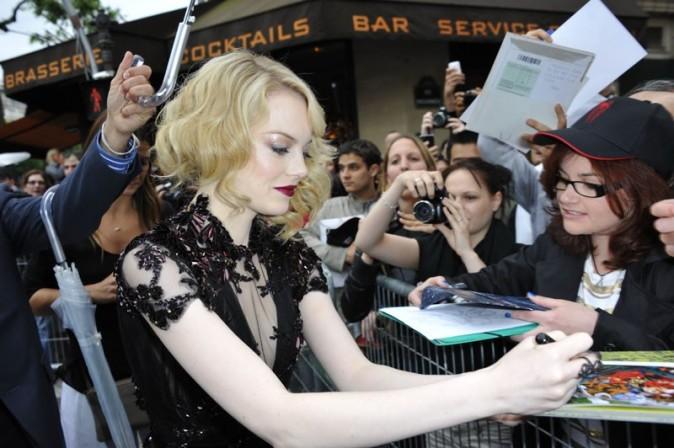 Emma Stone à l'avant-première de The Amazing Spider-Man à Paris le 19 juin 2012