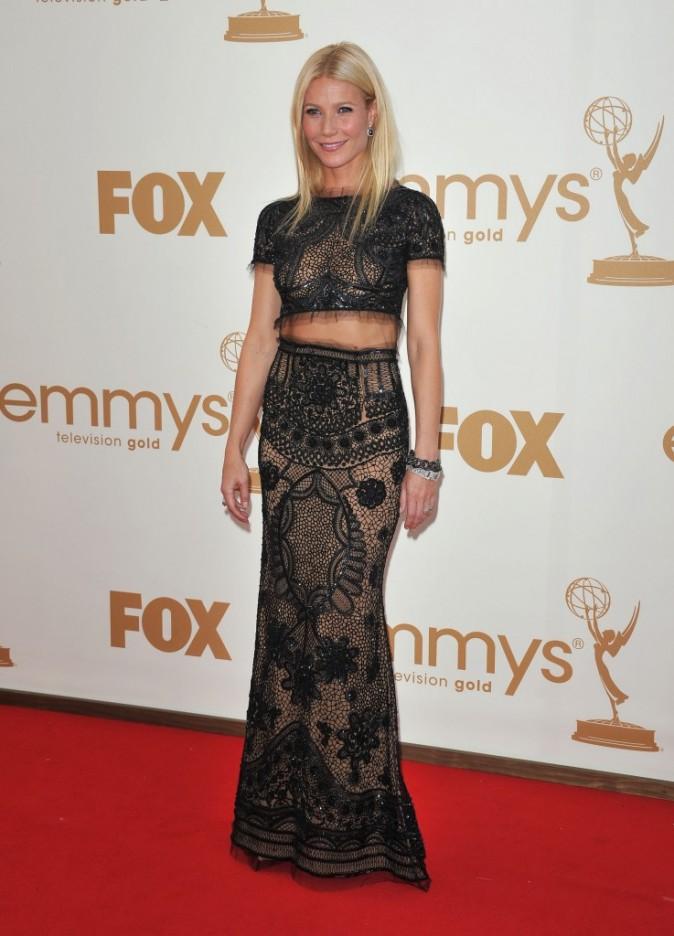 Gwyneth Paltrow lors de la cérémonie des Emmy Awards 2011, le 18 septembre 2011 à Los Angeles.