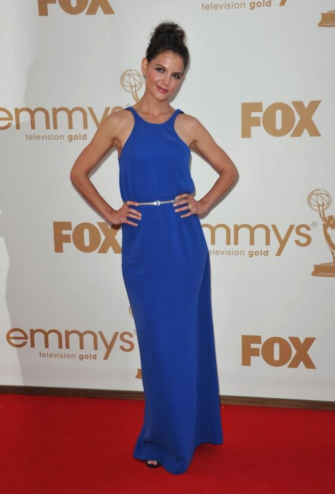 Katie Holmes lors de la cérémonie des Emmy Awards 2011, le 18 septembre 2011 à Los Angeles.