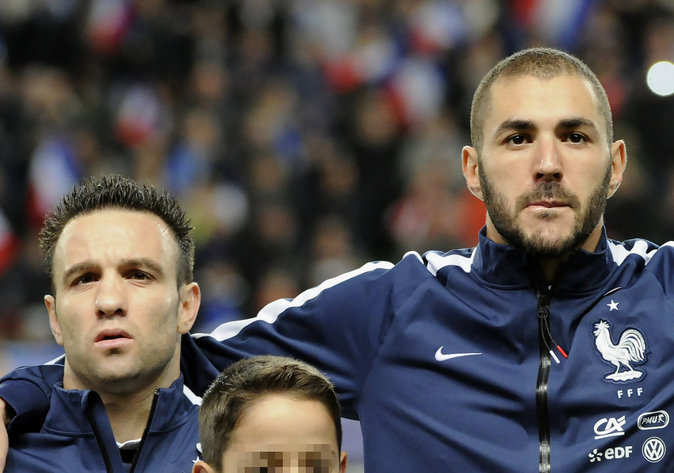 Karim Benzema et Mathieu Valbuena