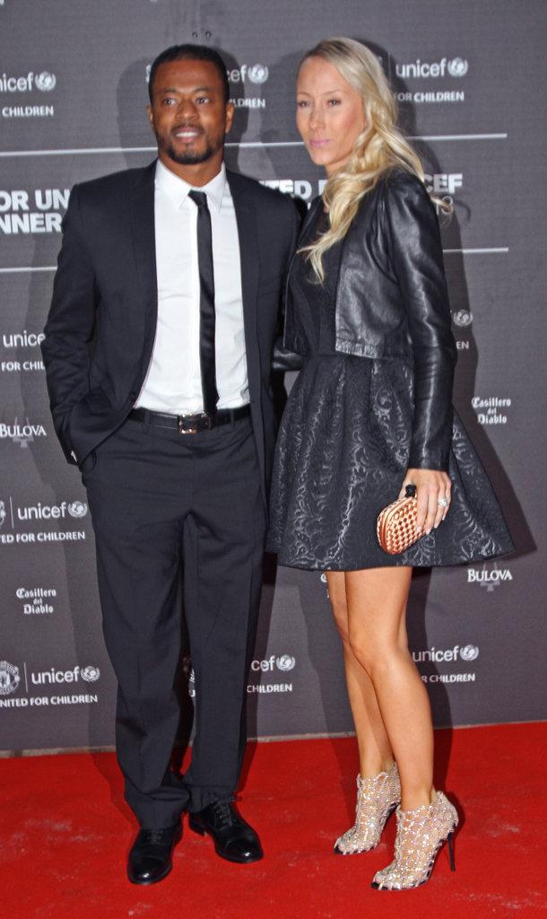 Patrice Evra et sa femme